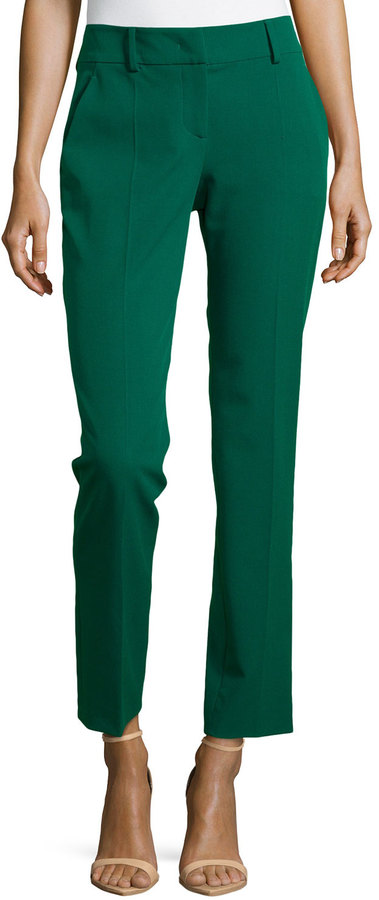 M Missoni Straight Leg Ankle Cropped Pants Green | Where to buy ...