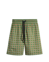 Burberry Equestrian Check Print Cotton Drawcord Shorts