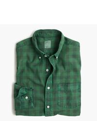 Green Check Dress Shirt