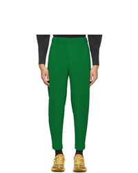 Homme Plissé Issey Miyake Green Cropped Tapered Trousers