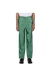 Bode Green Moire Trousers