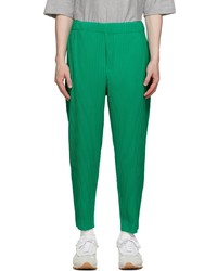 Homme Plissé Issey Miyake Green Monthly Color July Trousers