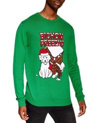 Green Christmas Crew-neck Sweater