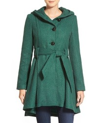 Belted hooded skirted coat medium 366612