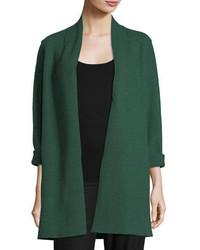 High collar open front boiled wool coat petite medium 5276777