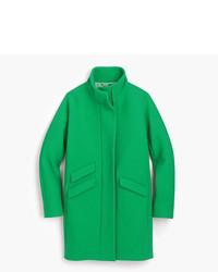 Tall italian stadium cloth wool cocoon coat medium 5310799