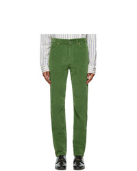 Gucci Green Washed Velvet Corduroy Trousers