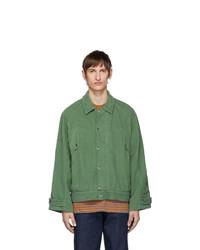 Carne Bollente Green Corduroy Forever Hung Jacket