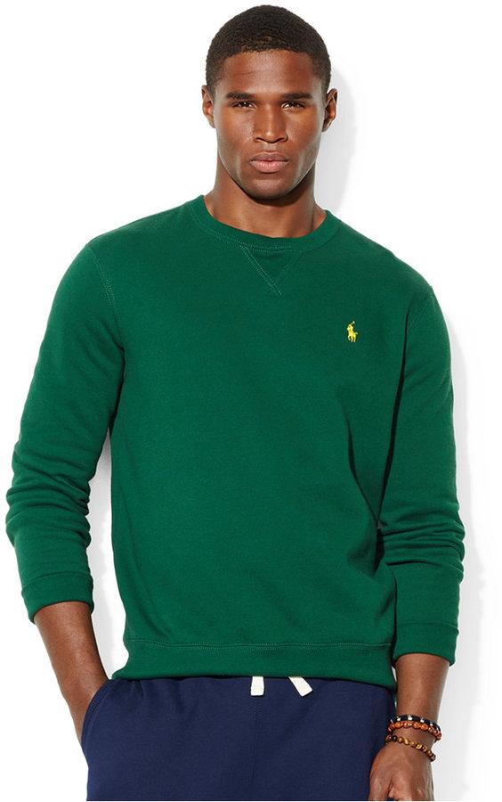 6532b71b36a0 ... Polo Ralph Lauren Classic Fleece Crew Neck Sweater ...