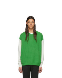 Givenchy Green Knit Color Block Sweater