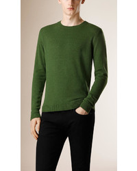 Burberry Prorsum Crew Neck Cashmere Silk Sweater