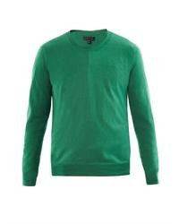 Burberry Prorsum Crew Neck Wool Knit Sweater