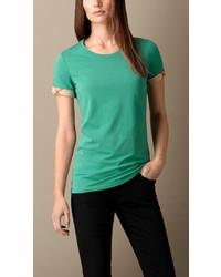 Green Crew-neck T-shirt