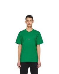 MSGM Green Micro Logo T Shirt