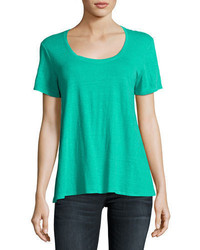Eileen Fisher Short Sleeve Organic Linen Lucky Tee
