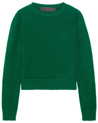 Cropped cashmere sweater green medium 3659955