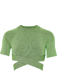 Alexander Wang T By Cropped Stretch Knit Top