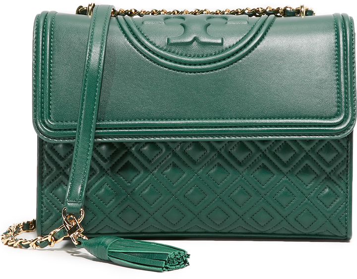 bfedc19141d7 Fleming Convertible Shoulder Bag. Green Crossbody Bag by Tory Burch