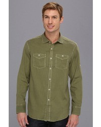 Tommy Bahama Denim Island Modern Fit Sand City Oxford Ls Shirt