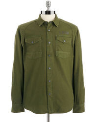 Green Denim Shirts for Men | Men's Fashion