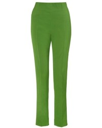 Cédric Charlier Green Slim Cropped Trousers