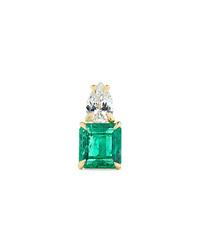 Anita Ko 18 Karat Gold Emerald And Diamond Earring