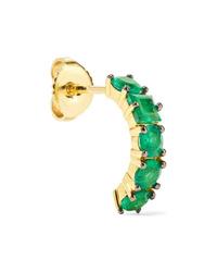 Jemma Wynne 18 Karat Gold Emerald Earring