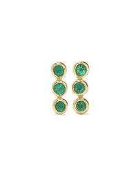 Jennifer Meyer 18 Karat Gold Emerald Earrings