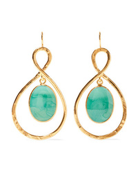 Loulou de la Falaise Gold Plated And Glass Earrings