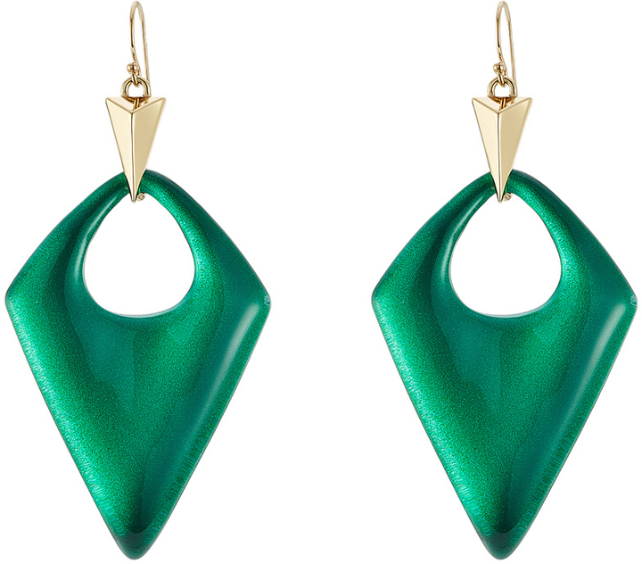 Lucite Earrings Green By Alexis Bittar