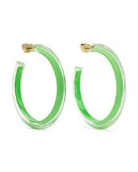 Alison Lou Medium Jelly Lucite And Enamel Hoop Earrings