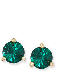Kate Spade New York 14k Gold Plated Crystal Stud Earrings