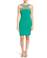 Mac Duggal Embellished Body Con Dress