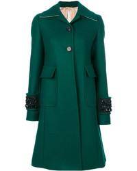 No.21 No21 Embellished Cuff Coat