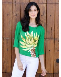 Embellished palm tee medium 175772