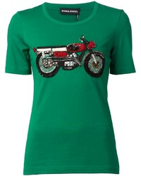 Sonia rykiel embellished motorcycle t shirt medium 175755