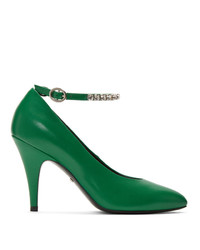 Gucci Green Crystal Heels