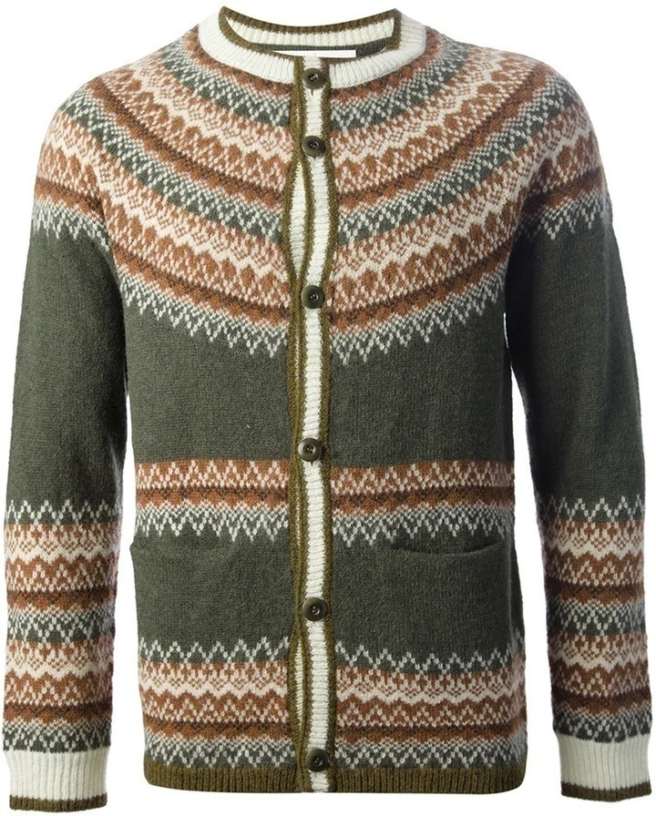 White Mountaineering Fair Isle Cardigan