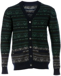 Sacai Patterned Knit Cardigan