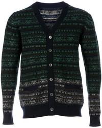 Sacai Patterned Knit Cardigan