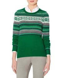 The limited gem embellished fair isle sweater medium 124519