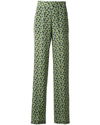 Etro Floral Print Flared Trousers