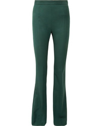 PIERRE BALMAIN Wool Twill Flared Pants Green