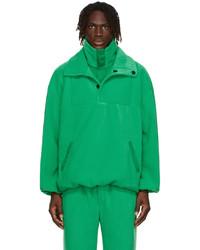 Situationist Green Satin Fleece Jacket