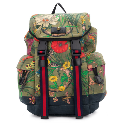 5a532eef14b01f Gucci Flora Snake Print Backpack, $1,444 | farfetch.com | Lookastic.com