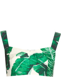 Dolce & Gabbana Banana Leaf Print Cropped Top
