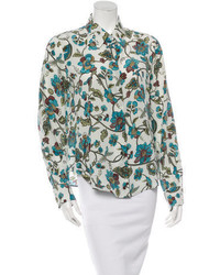 Silk floral print blouse medium 3649674