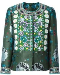 Etro floral jacquard embroidered jacket medium 454051