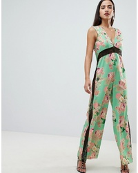 ASOS DESIGN Jumpsuit With In Soft Floral Print