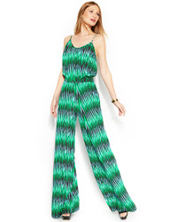 Michl michl kors sleeveless printed jumpsuit medium 115759